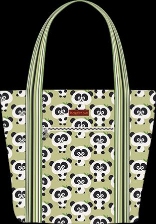 35b4e68a0 Panda Striped Cotton Canvas Tote